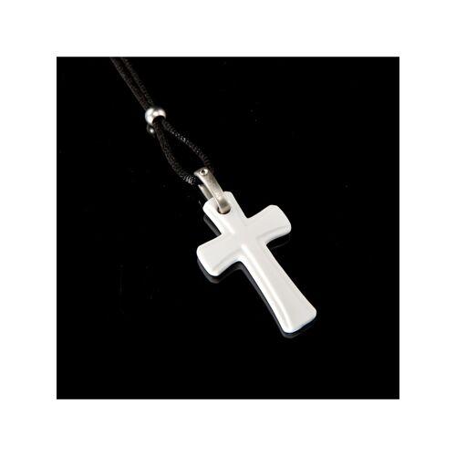 Kaiser Porzellan Halskette Kreuz Kaiser Porzellan weiß