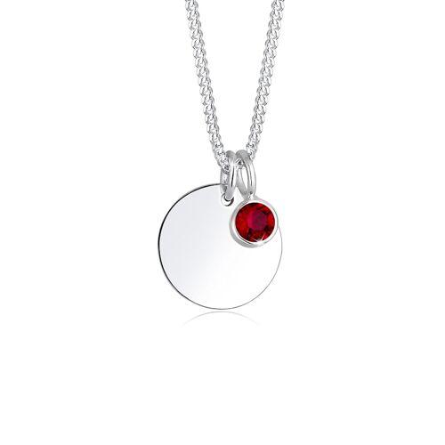 Elli Halskette Geburtsstein April Kristalle 925 Silber Elli Rot