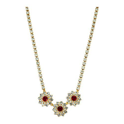 Golden Style Collier mit Kristallen Golden Style Rot