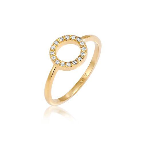 Elli Ring Kreis Geo Kristalle 925 Silber Elli Gold