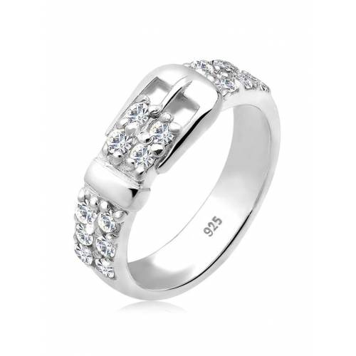 Elli Ring Gürtel Kristalle 925 Silber Elli Weiß