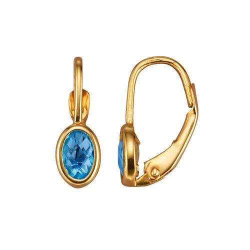 KLiNGEL Ohrringe mit Blautopas KLiNGEL Blau