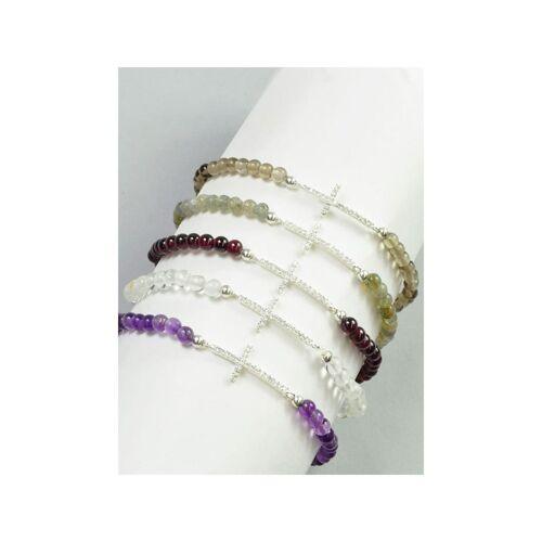 1001 Diamonds Bergkristall Armband Kreuz 925 Silber 1001 Diamonds transparent
