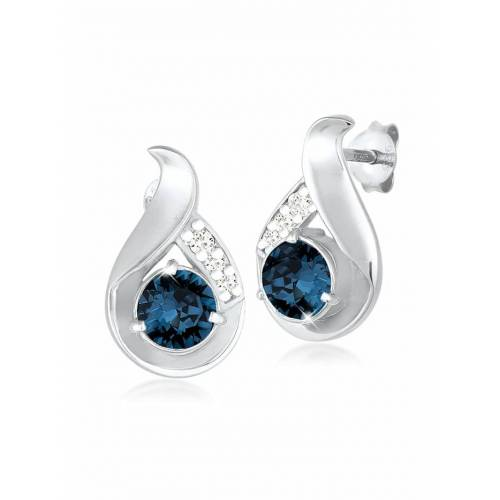 Elli Ohrringe Tropfen Kristalle Glamour 925 Silber Elli Blau