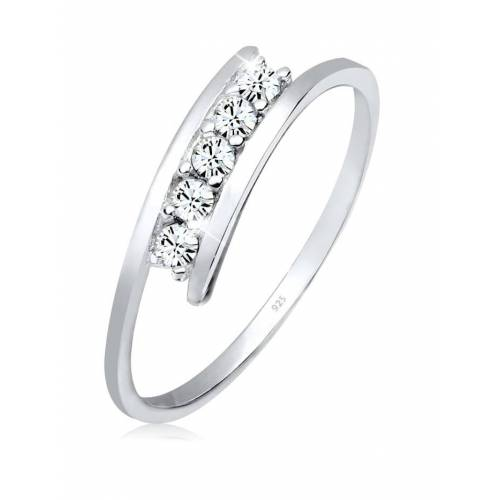 Elli Ring Kristalle 925 Silber Elli Weiß