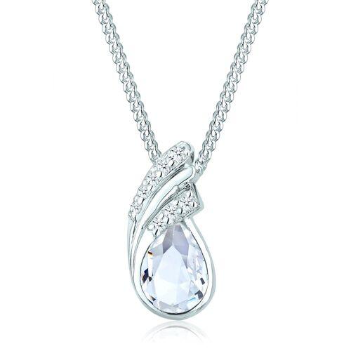 Elli Halskette Tropfen Drop Kristalle 925 Silber Elli Weiß