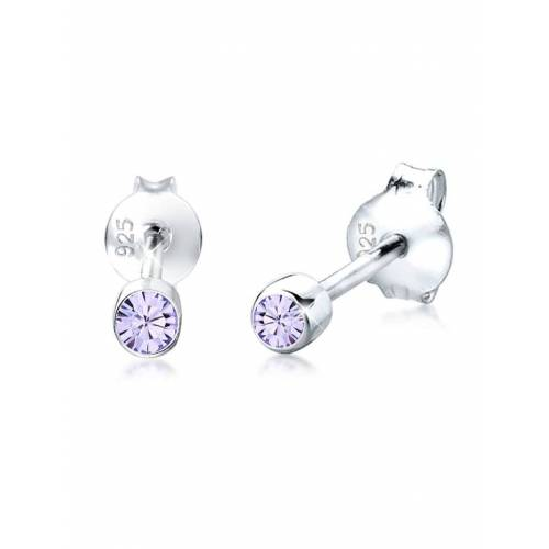 Elli Ohrringe Kinder Basic Kristalle 925 Silber Elli Violett