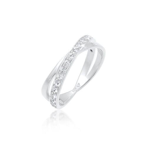 Elli Ring Edel Wickelring Kristalle 925 Silber Elli Silber