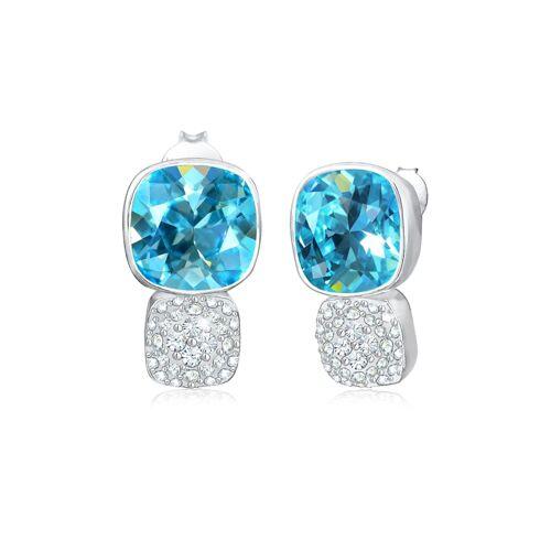 Elli Premium Ohrringe Aquamarin Kristalle 925Er Silber Elli Premium Hellblau
