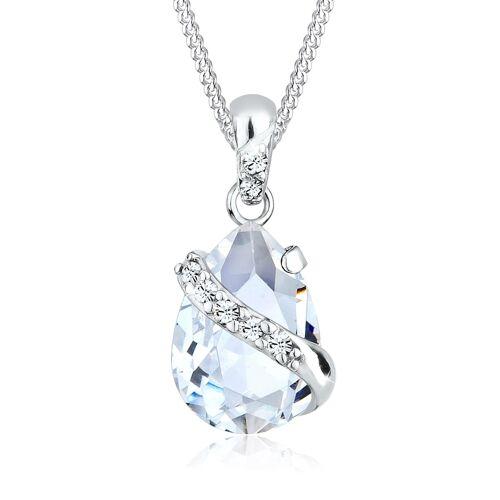 Elli Halskette Tropfen Ranke Kristalle 925 Silber Elli Weiß