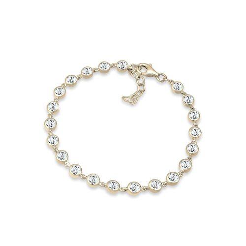Elli Premium Armband Kristalle 925 Sterling Silber Elli Premium Gold