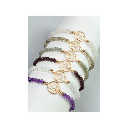1001 Diamonds Bergkristall Armband 925 rosé Silber 1001 Diamonds transparent
