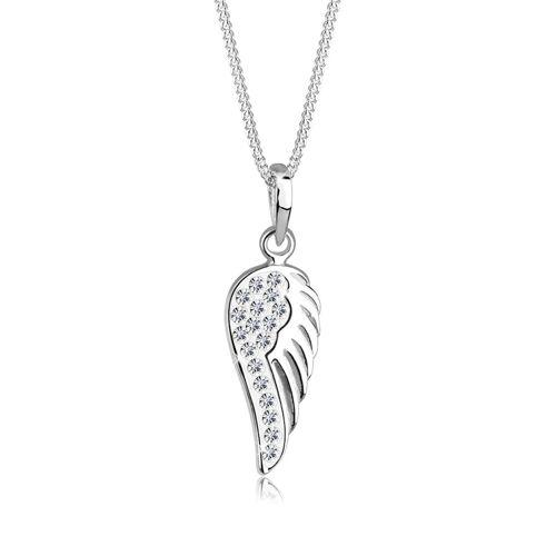 Elli Halskette Flügel Engel Kristalle 925 Silber Elli Weiß
