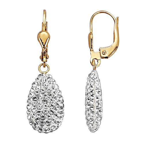 KLiNGEL Ohrringe mit Kristallen KLiNGEL Weiß