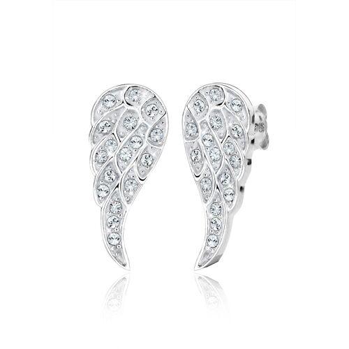 Elli Ohrringe Flügel Kristalle 925 Silber Elli Weiß