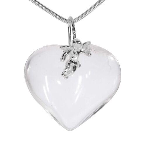 1001 Diamonds Herz Bergkristall Anhänger 925 Silber 1001 Diamonds transparent