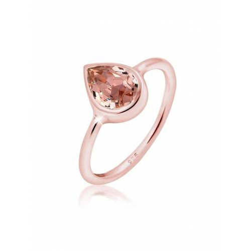 Elli Ring Tropfen Kristalle 925 Silber Elli Rosa