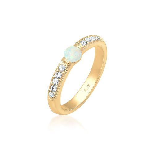 Elli Premium Ring Opal Kristalle 925Er Sterling Silber Elli Premium Gold