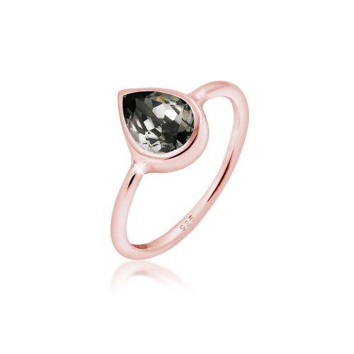 Elli Ring Tropfen Kristalle 925 Silber Elli Rosegold
