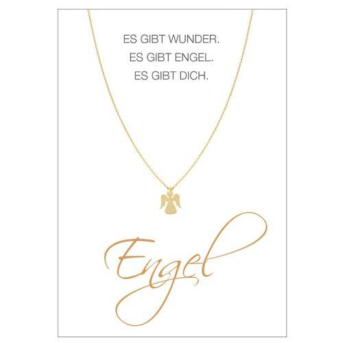 Herzkarte Engel-Collier Herzkarte Gelb