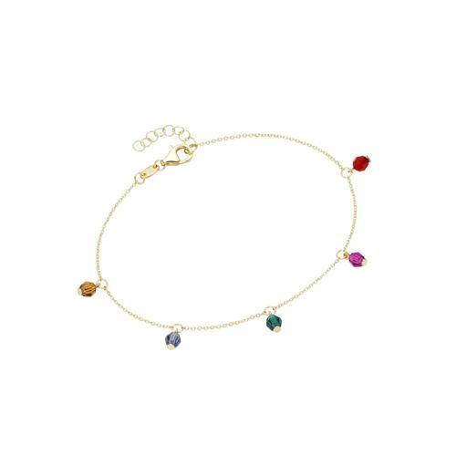 Luigi Merano Armband mit farbigen Kristallsteinkugeln, Gold 375 Luigi Merano Gold