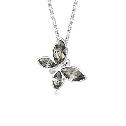 Elli Premium Halskette Schmetterling Kristalle 925 Silber Elli Premium Silber