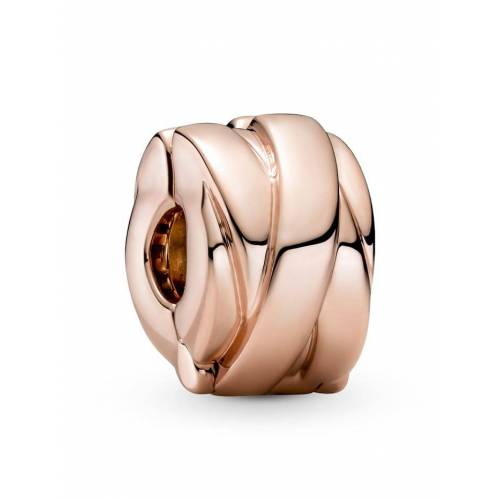 Pandora Clip-Charm -polierte Bänder- Pandora Rosé