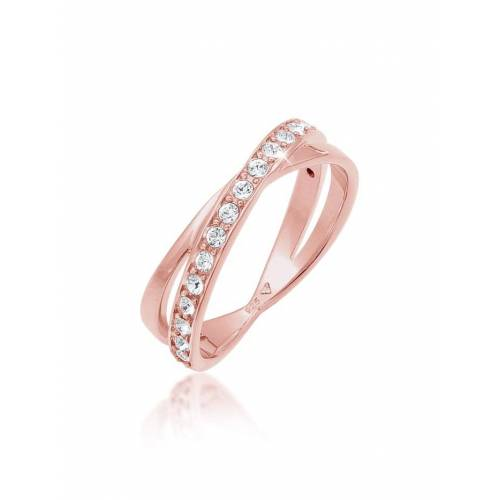 Elli Ring Edel Wickelring Kristalle 925 Silber Elli Rosegold