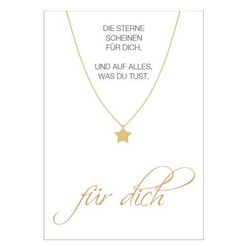 Herzkarte Stern-Collier Herzkarte Gelb