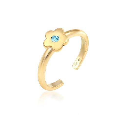 Elli Ring Kinder Blume Kristall 925Er Silber Elli Gold