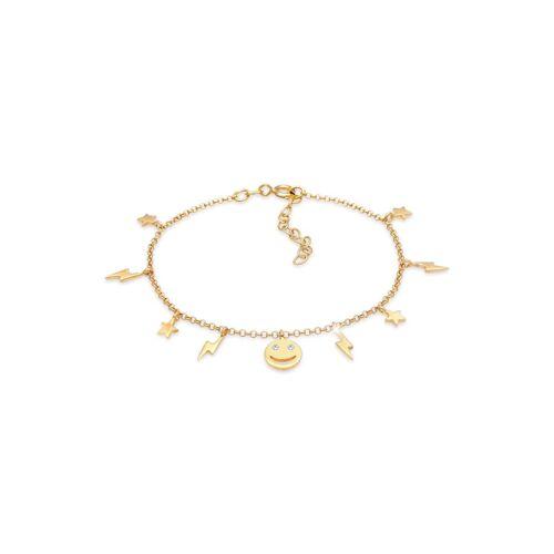 Elli Armband Stern Blitz Smiley Kristalle Boho 925 Silber Elli Gold