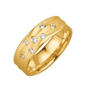 harmony Trauring mit 7 Diamanten Harmony Gelb
