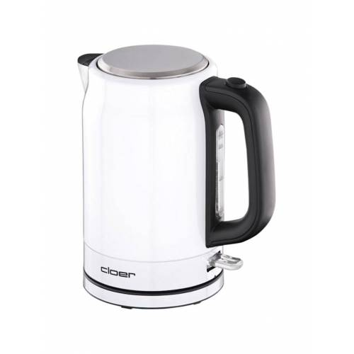 Cloer Wasserkocher Edelstahl-Wasserkocher 4521 Cloer Weiß