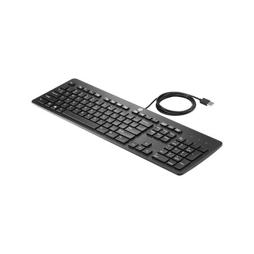 HP Tastatur USB Business Tastatur flach HP Schwarz