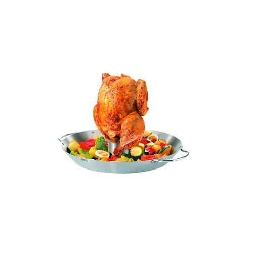 GEFU Hähnchengriller und Gemüse-Wok BBQ GEFU Silber