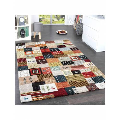 Paco Home Designer Teppiche Modern Loribaft Nomaden Teppich Gabbeh Optik Beige Braun Creme Paco Home Multicolor