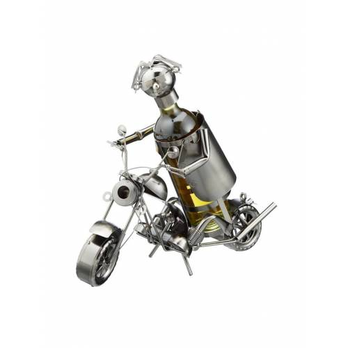 HTI-Living Weinflaschenhalter Motorrad HTI-Living Silber
