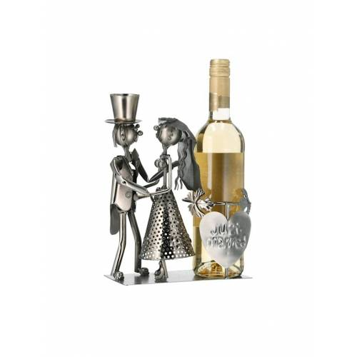 HTI-Living Weinflaschenhalter Brautpaar HTI-Living Silber