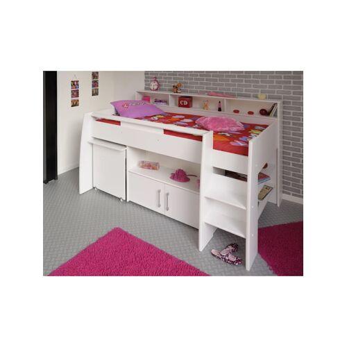 """Parisot Multifunktionshochbett mit Schreibtisch """"Swan 1"""" Parisot Weiß"""