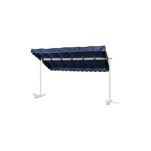 Grasekamp Stand Markise 3,75x2,25m  Terrassenüberdachung Dubai Blau Grasekamp Blau