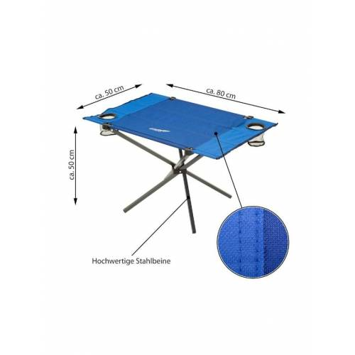 VCM faltbarer Camping Garten Tisch VCM Blau