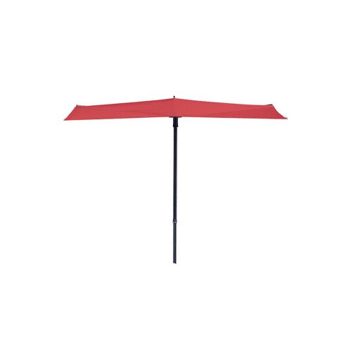 Grasekamp Balkon Sonnenschirm Fächer Schirm 300x150cm Ziegel Rot mehrfach verstellbar Grasekamp Rot