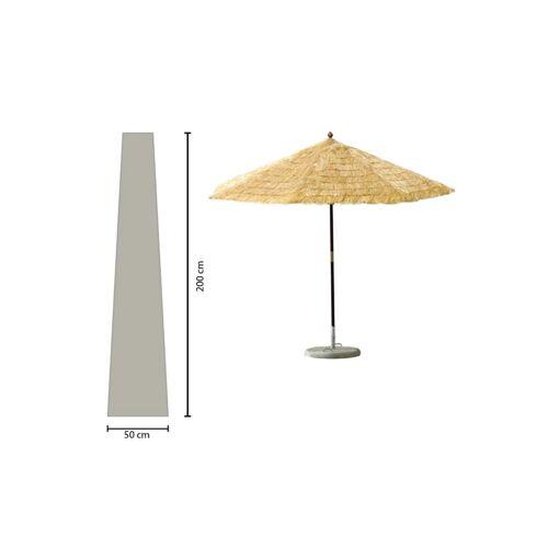 Grasekamp Schirmhülle 200cm lang Sonnenschirm bis  Ø 350 cm Schutzhülle Schutzhaube  Abdeckplane Weiß Grasekamp Weiß
