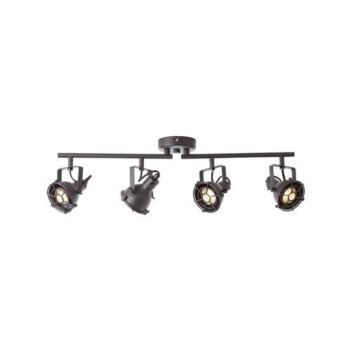 Brilliant Jesper LED Spotrohr 4flg schwarz korund Brilliant schwarz korund