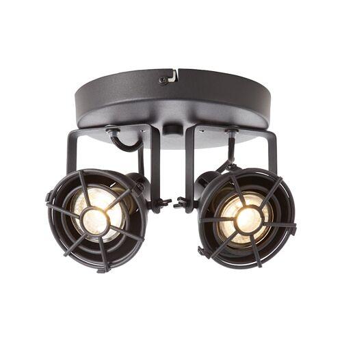 Brilliant Jesper LED Spotrondell 2flg schwarz korund Brilliant schwarz korund