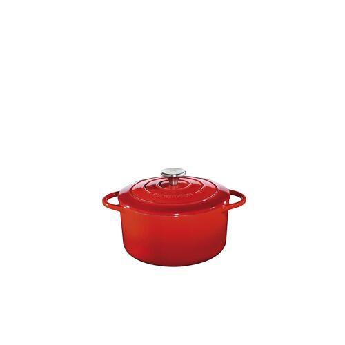 Küchenprofi Bratentopf Rund mit Deckel Provence Küchenprofi Rot