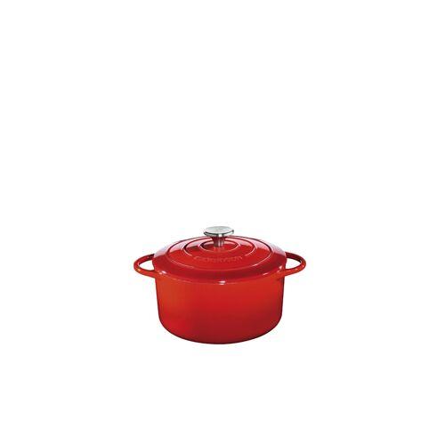 Küchenprofi Bratentopf mit Gussdeckel PROVENCE Küchenprofi Rot