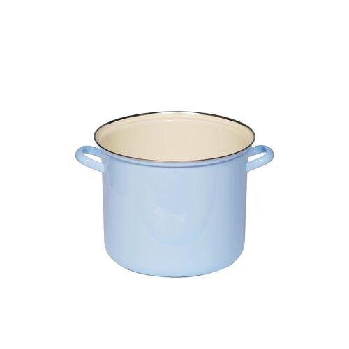 Riess Topf 18 cm mit Chromrand Blau Riess Blau