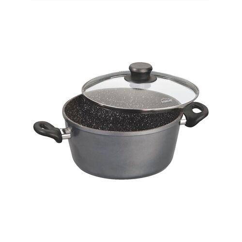 STONELINE Kochtopf mit Glasdeckel 20 cm Stoneline Grau::Schwarz