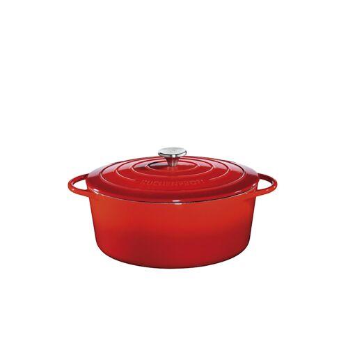 Küchenprofi Bratentopf Oval mit Deckel Provence Küchenprofi Rot